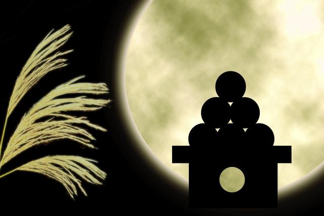 月見団子とススキ