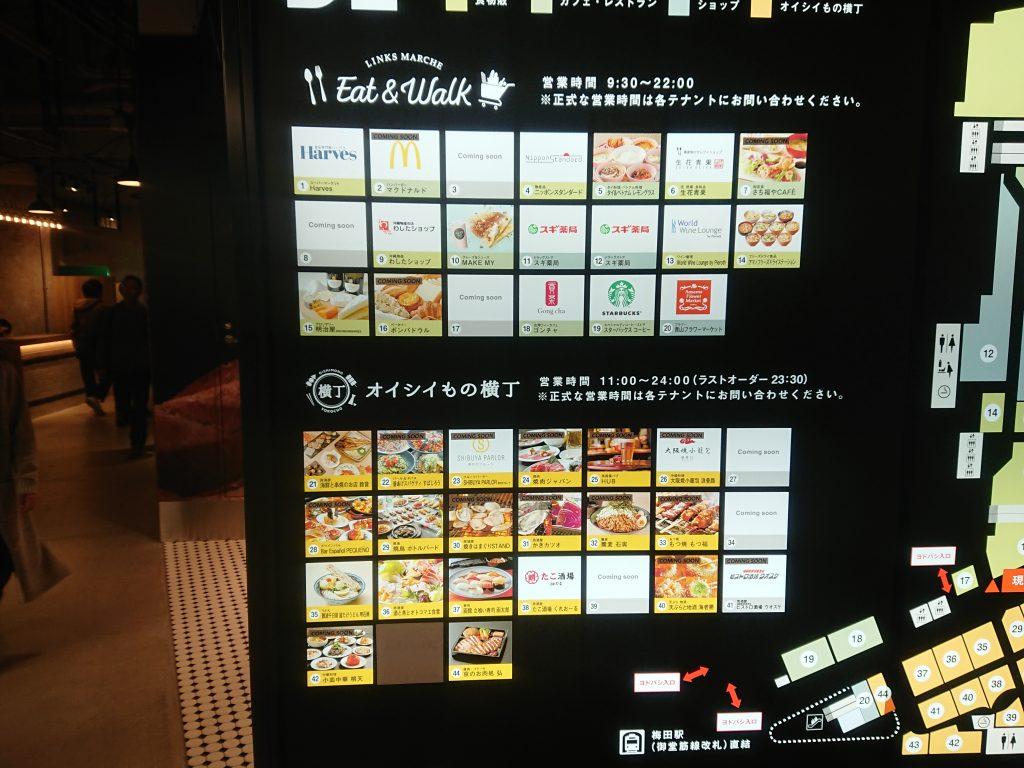 リンクス梅田飲食店